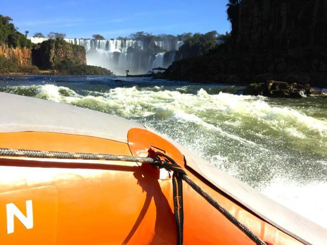 Iguazu falls gummibåt safari