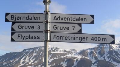 Svalbard, skilt
