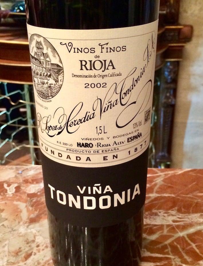 En rød vin fra Vina Tondonia