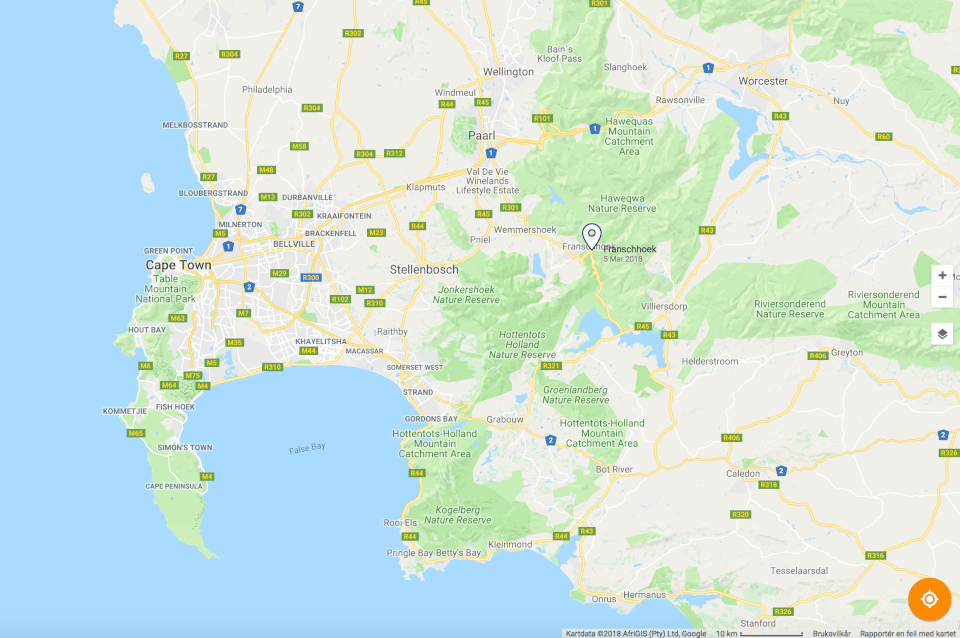 Map, Stellenboch