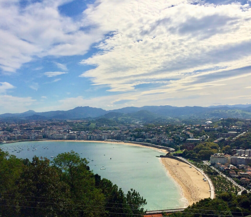 San Sebastian, strandpromenaden