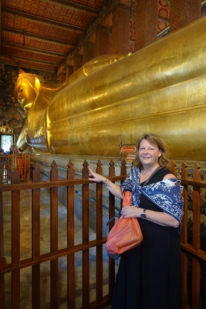 Wat Pho, hvilende buddha. Bangkok