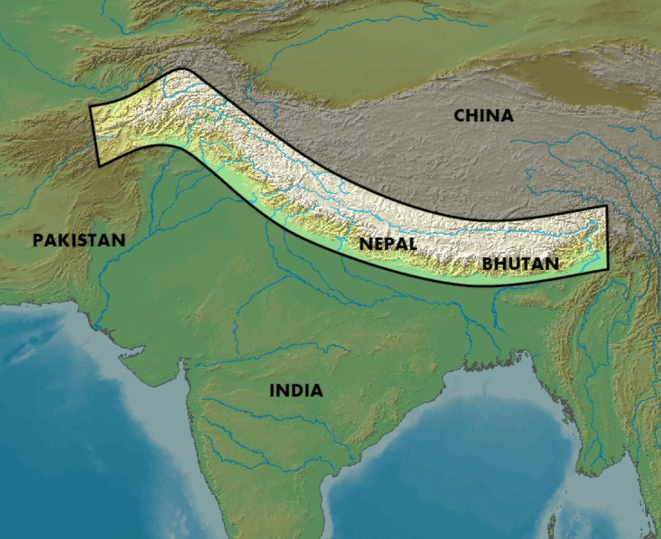 Ovesiktskart, Himalaya