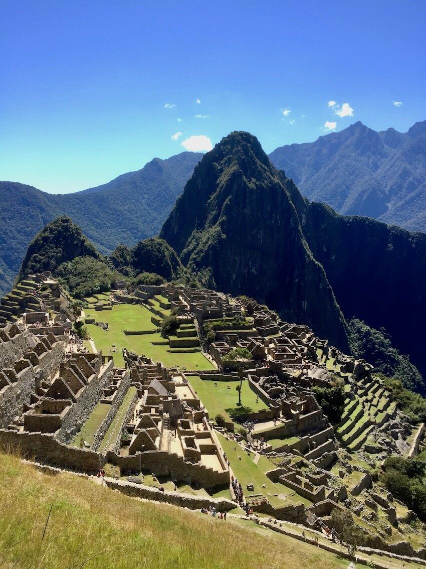 Utsikt over Machu Picchu