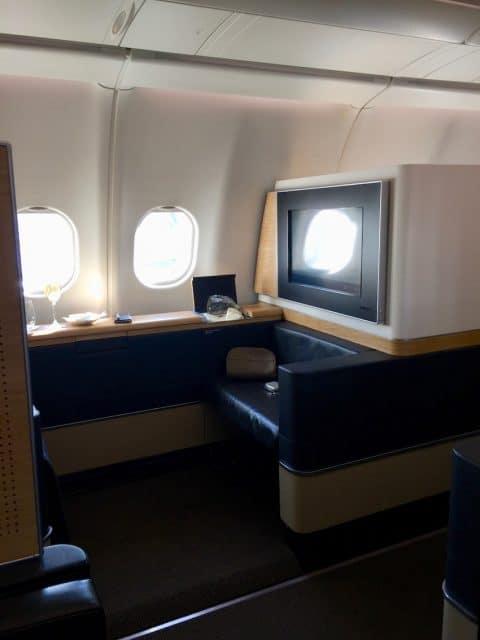 Vindusplass, Anmeldelse: Swiss First Class fra Zurich til Dubai