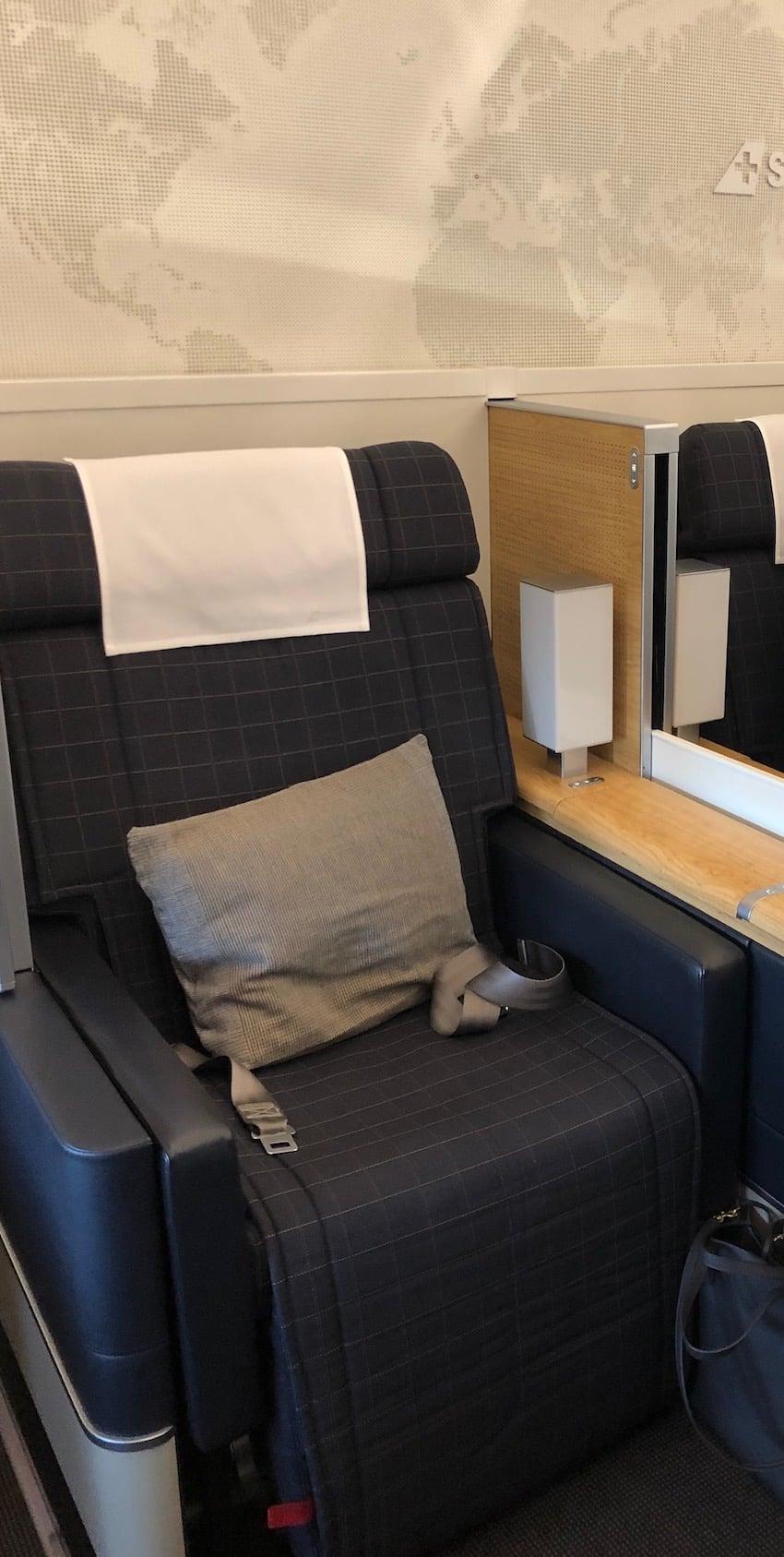 Behagelige seter, Anmeldelse: Swiss First Class fra Zurich til Dubai