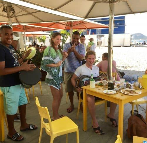 Musikk på Copacabana beach