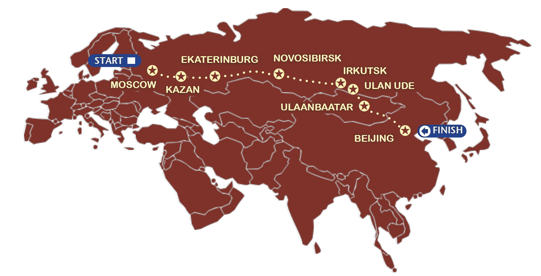 Kart over reiseruten_transibirske