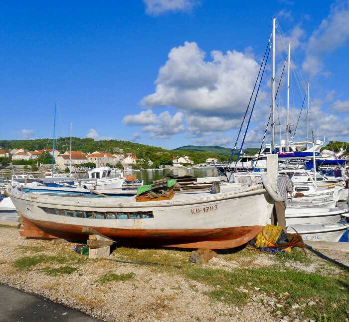 Seilferie i Kroatia - fisklelandsby ved Korkula