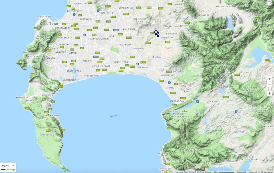 Map, Stellenboch, vinsmaking