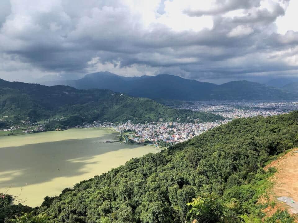Utsikt fra Shanti Stupa -World Peace Pagoda