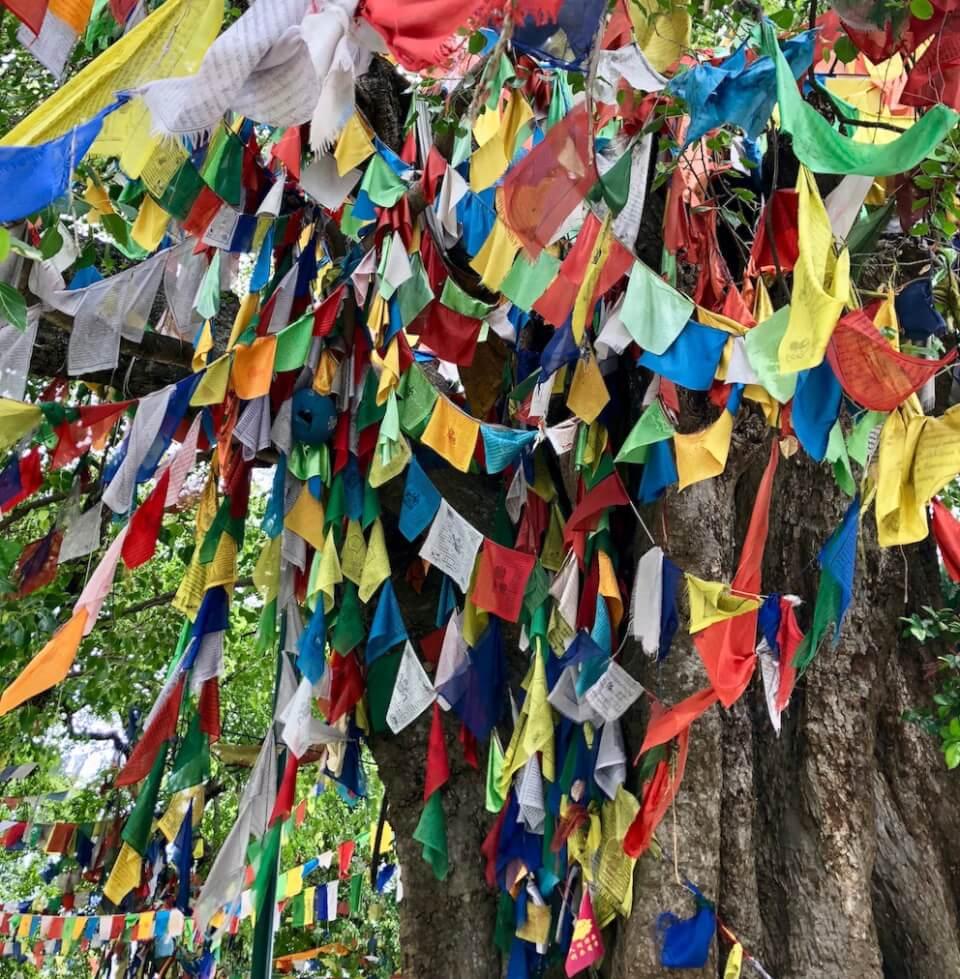 Bønnflagg, Maya Devi tempelet, Lumbini