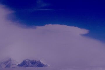 Mount everest fra luften