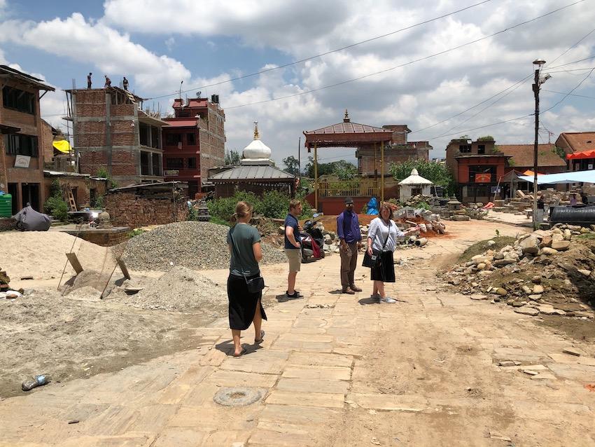 Machhendranath-templet fortsatt i ruiner