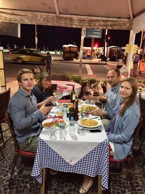 Middag på Copacabana beach