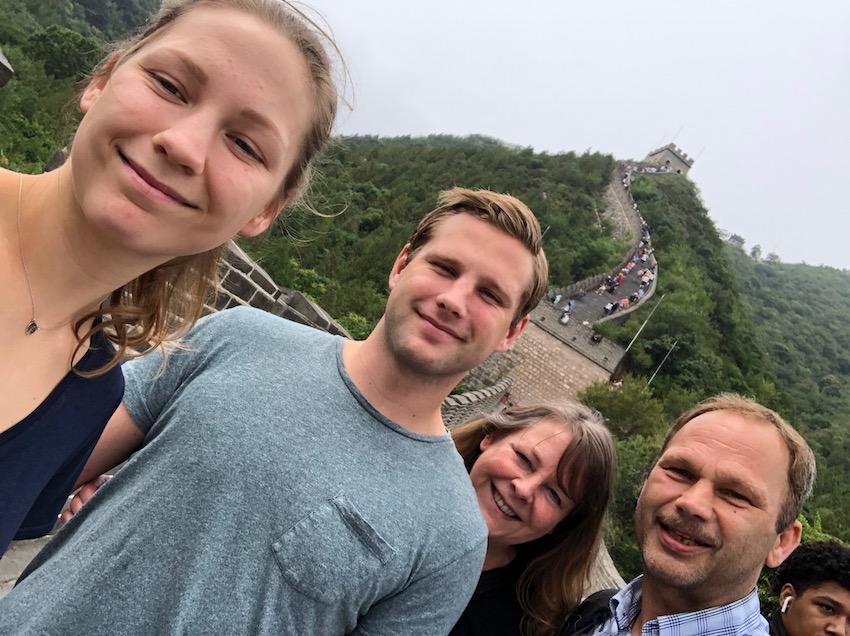 På den kinesiske mur - reiseåret 2019