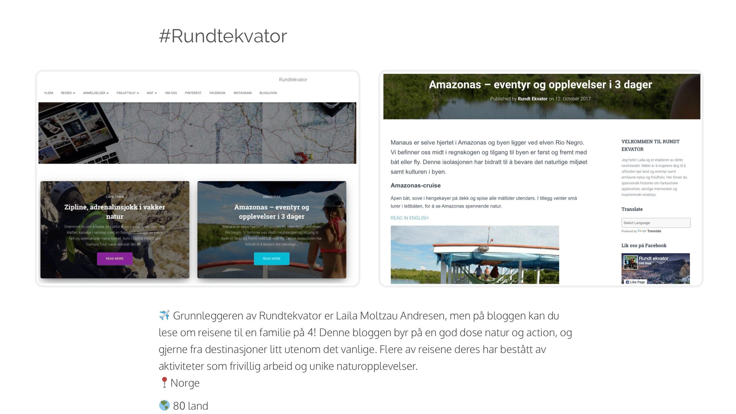 Norges beste reiseblogg 2019