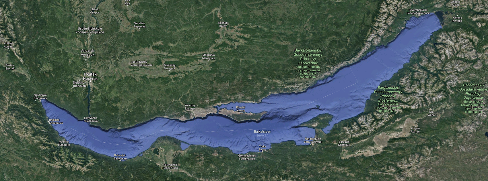 Lake Baikal, the world´s deepest and largest.